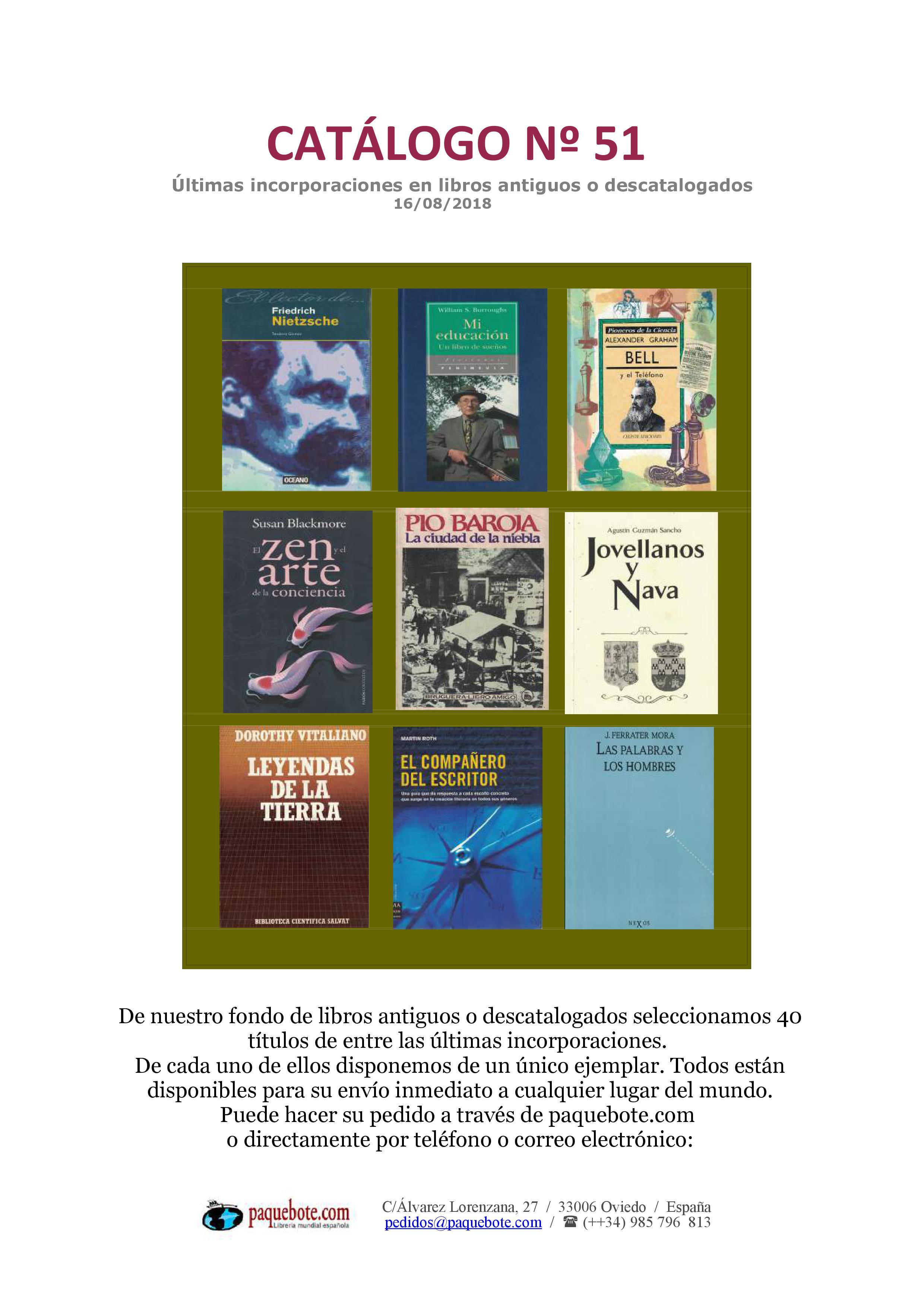 Paquebote catálogo 51