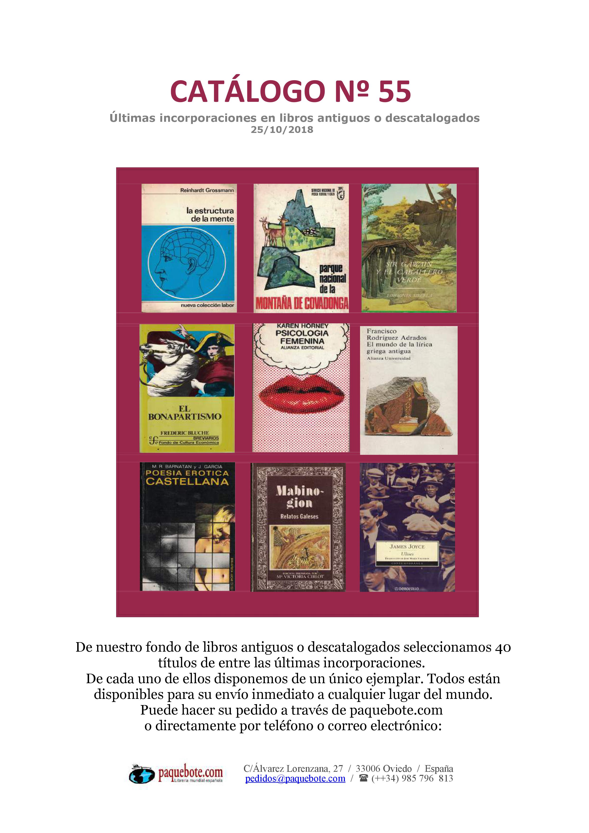 Paquebote catálogo 55