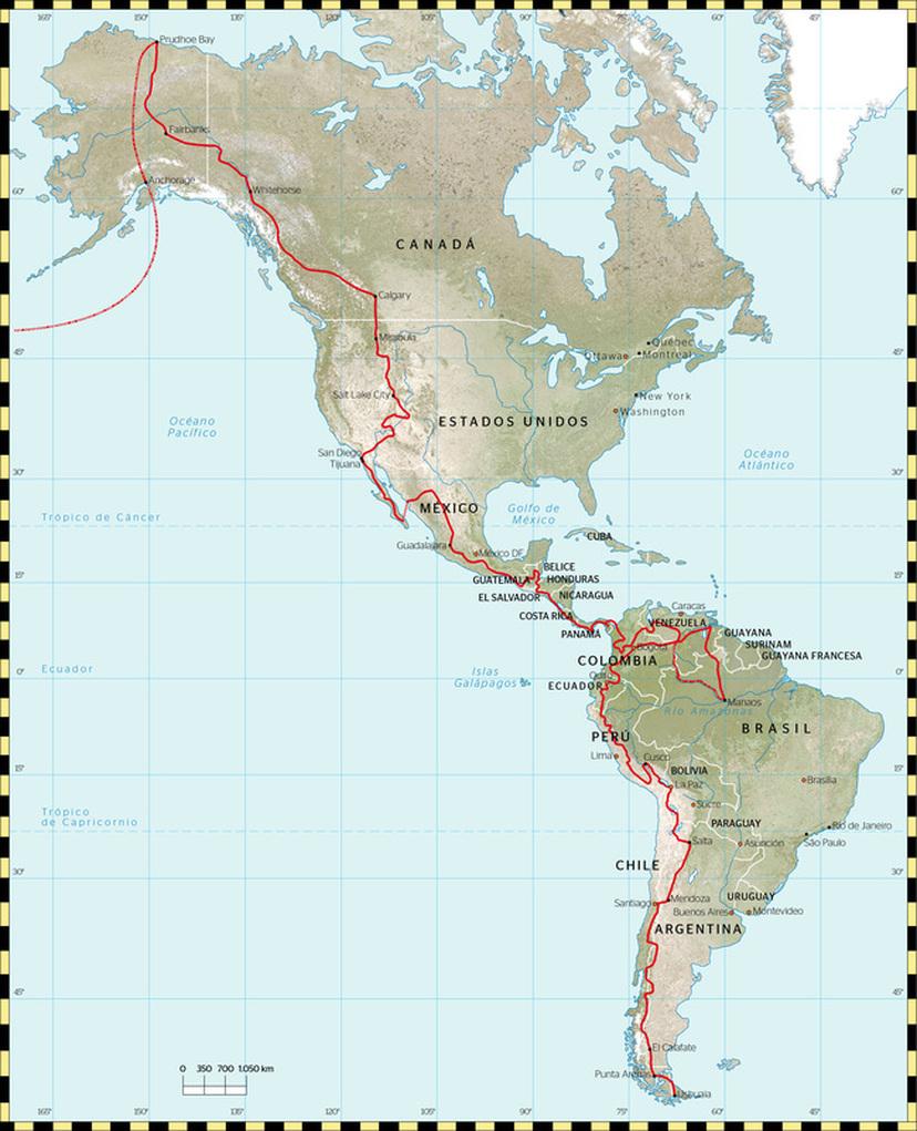 UN                                                           VIAJE DE                                                           CUENTO                                                            AMERICA