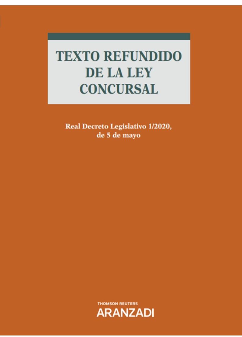 TEXTO REFUNDIDO DE LA LEY CONCURSAL