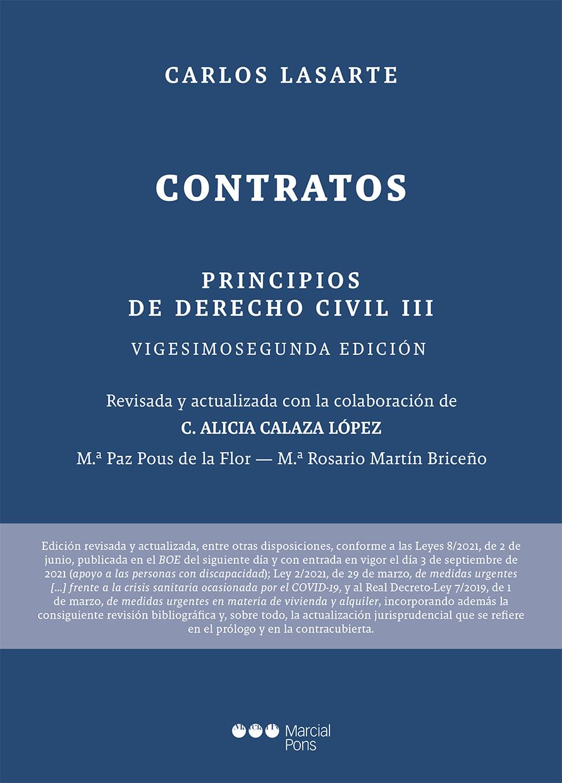 Principios de Derecho civil   «Tomo III: Contratos»