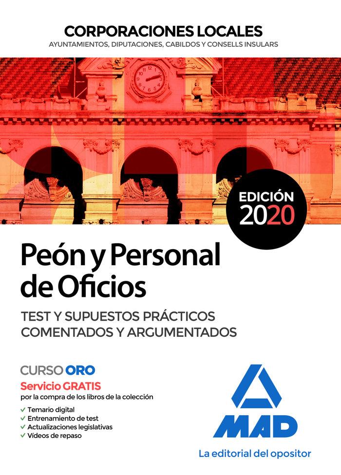 PEON Y PERSONAL OFICIOS CORPORACION LOCAL TEST Y SIP «Edición 2020»