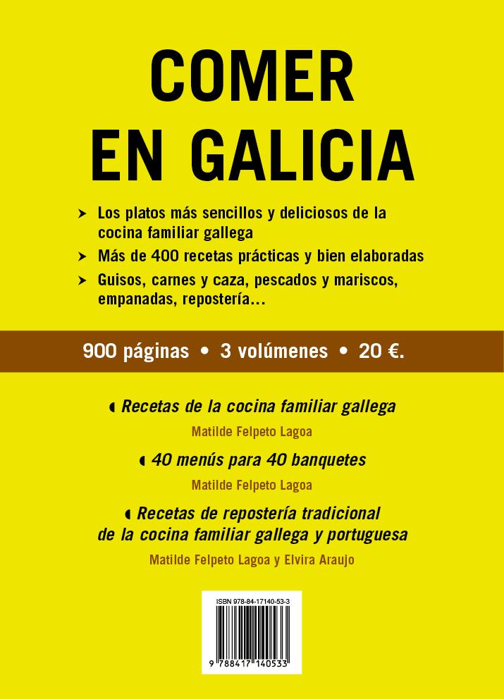 COMER EN GALICIA «3 volúmenes»