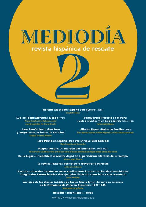 Mediodía. Revista hispánica de rescate. 2   «Número 2»