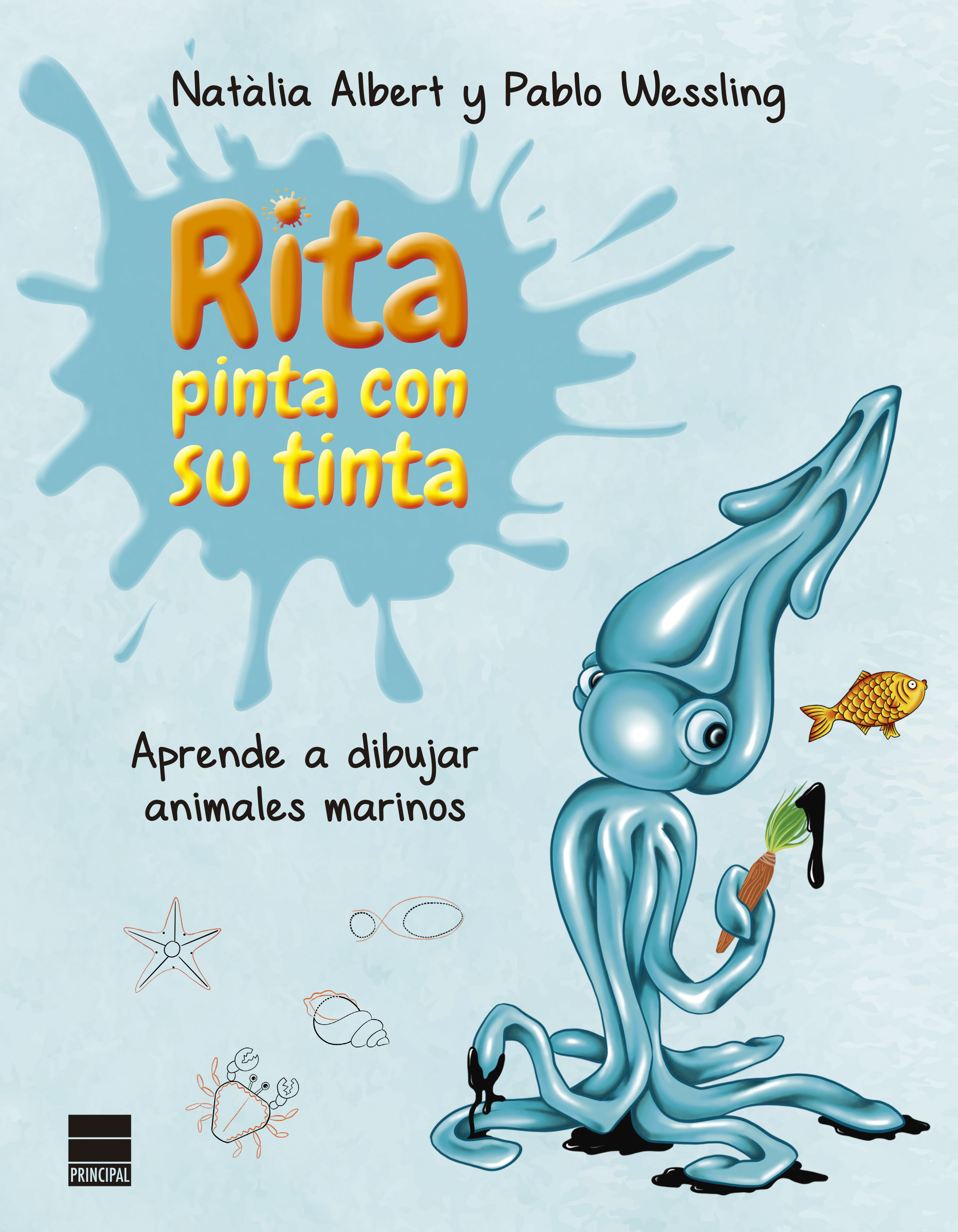 Rita pinta con su tinta   «Aprende a dibujar animales marinos»