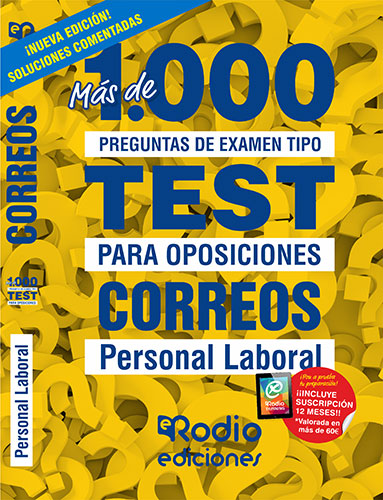 Correos. Personal Laboral. Más de 1.000 preguntas tipo test para oposiciones.