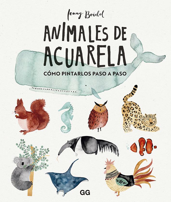 Animales de acuarela   «Cómo dibujarlos paso a paso»
