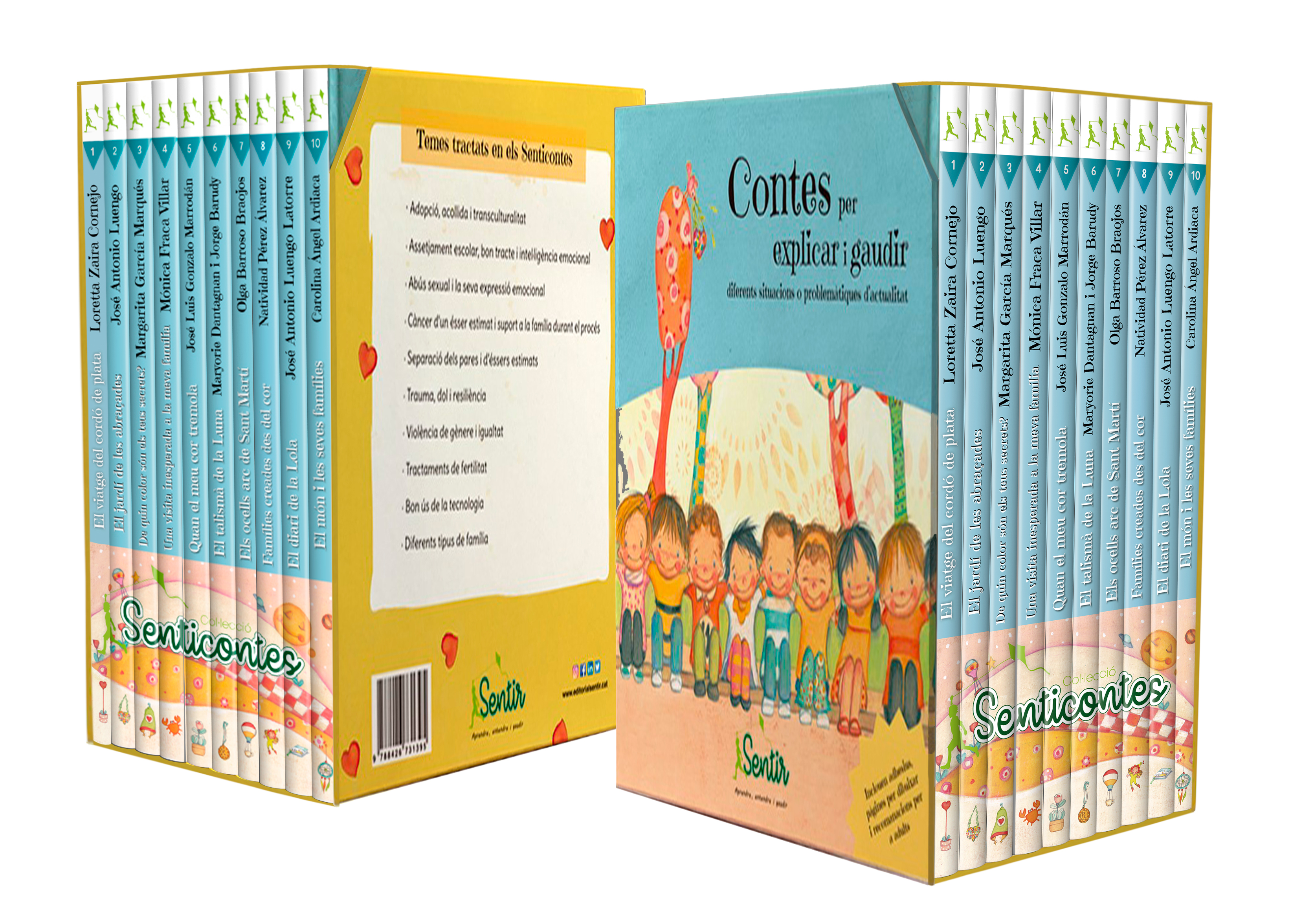 Pack Senticontes   «Contes per explicar i gaudir diferents situacions o problemàtiques d'actualitat»