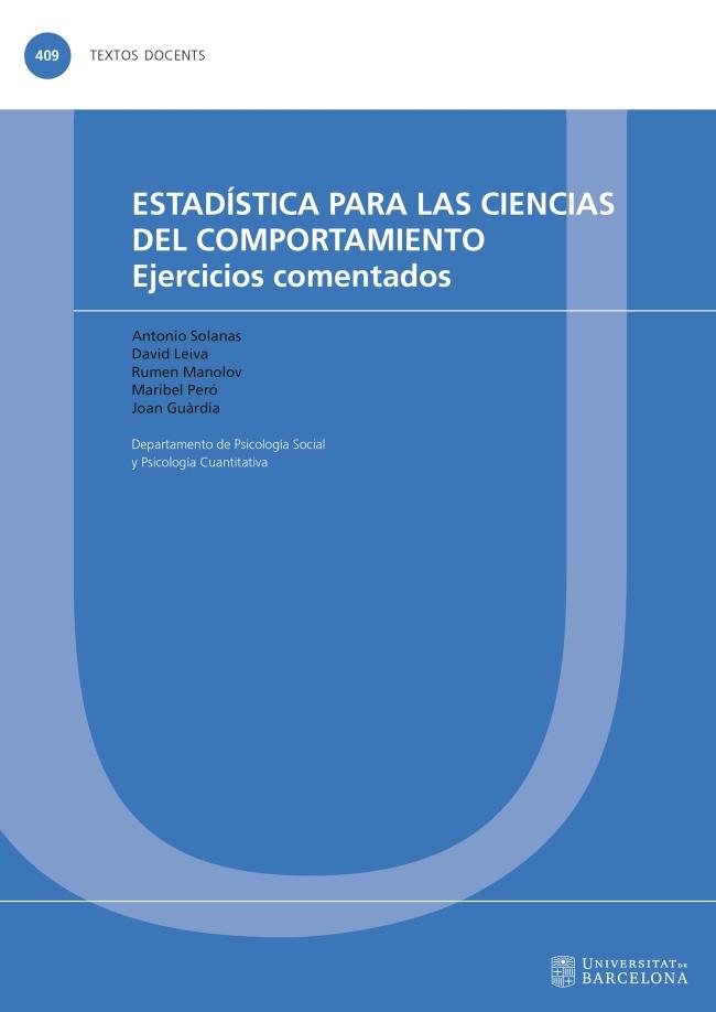 Estadísticas para las Ciencias del Comportamiento
