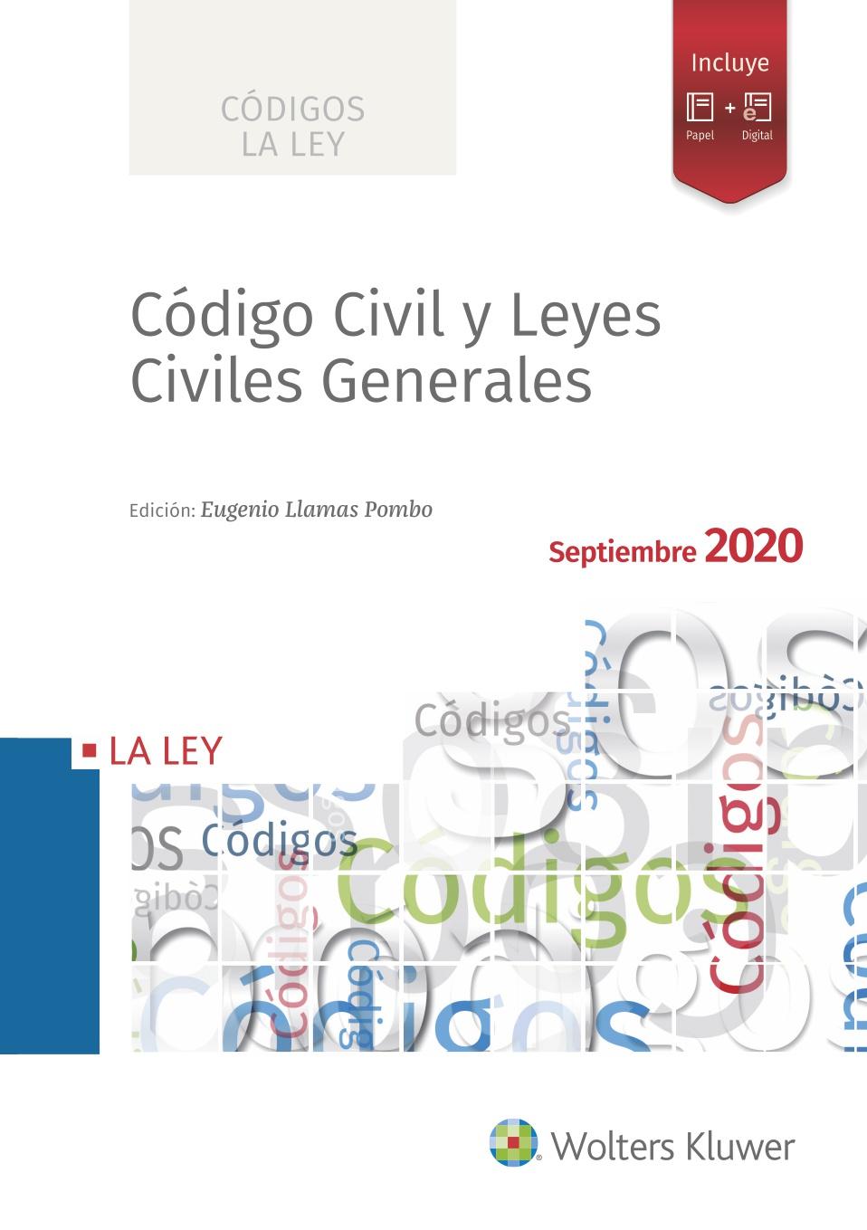 Código Civil y Leyes Civiles Generales 2020