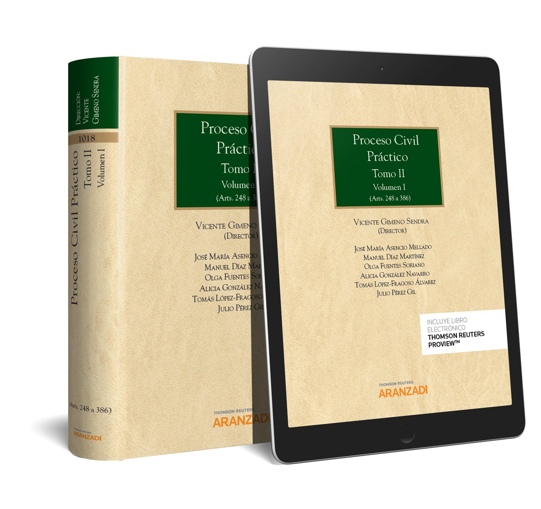 PROCESO CIVIL PRÁCTICO, TOMO II. VOLUMEN I Y II (DUO)