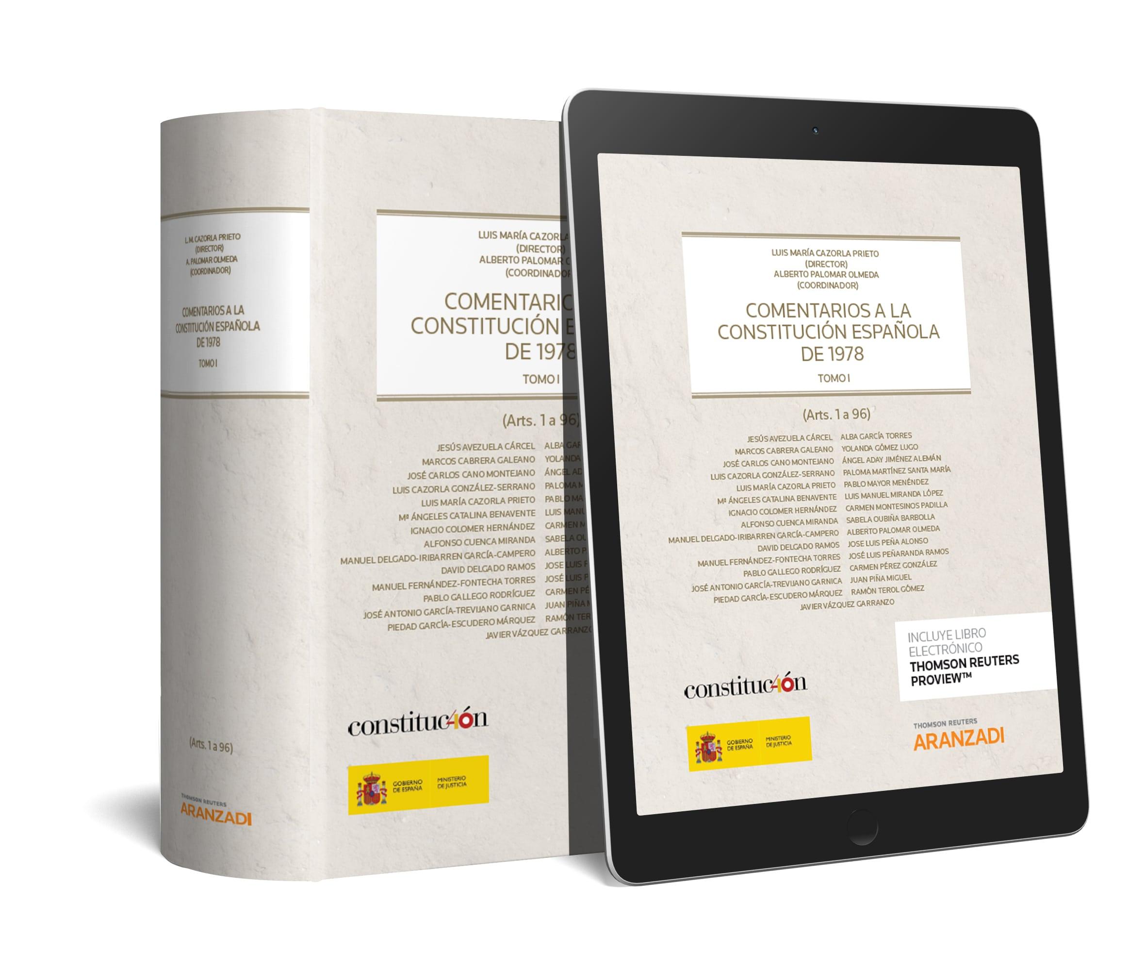 COMENTARIOS A LA CONSTITUCION ESPAÑOLA . ( O.C 2 VOLS. ) DUO . **
