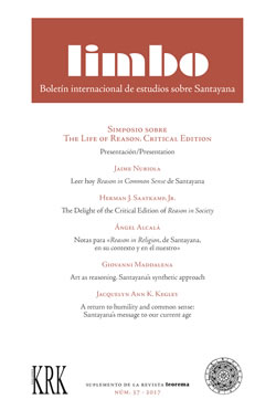 Limbo. n.º 37 / 2017. Simposio sobre The Life of Reason. Critical Edition (LIM037)