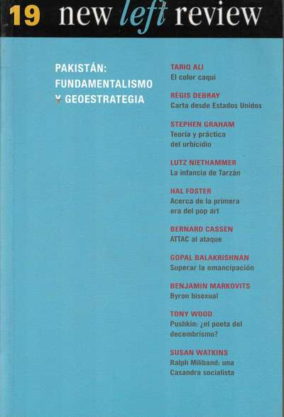 New Left Review nº 19: Pakistán: fundamentalismo y geoestrategia (PAQ67271505)