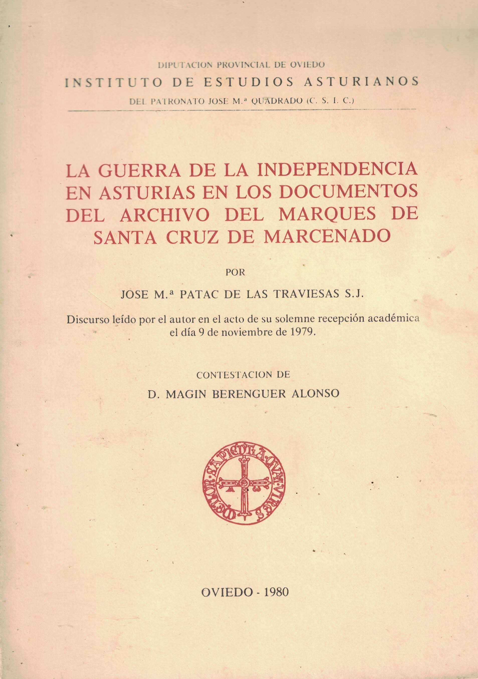 La Guerra de Independencia en Asturias en los documentos del archivo del Marqués de Santa Cruz de Marcenado
