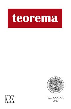 Teorema. Revista Internacional de Filosofía. vol XXXIX-1, marzo 2020